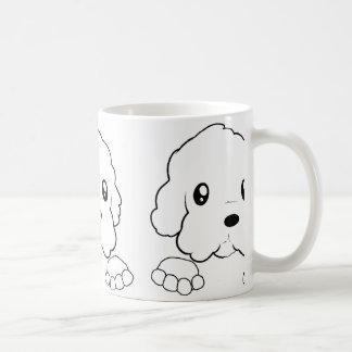 maltese peeking coffee mug