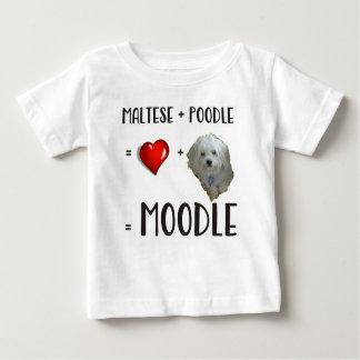 Maltese + Poodle = Moodle Baby T-Shirt