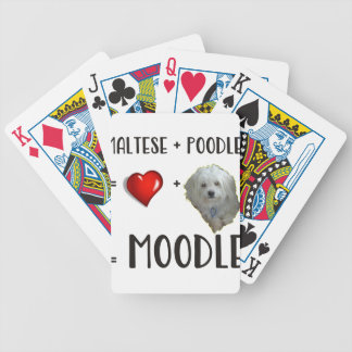 Maltese + Poodle = Moodle Bicycle Playing Cards