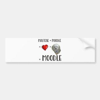 Maltese + Poodle = Moodle Bumper Sticker