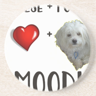 Maltese + Poodle = Moodle Coaster