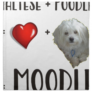 Maltese + Poodle = Moodle Napkin