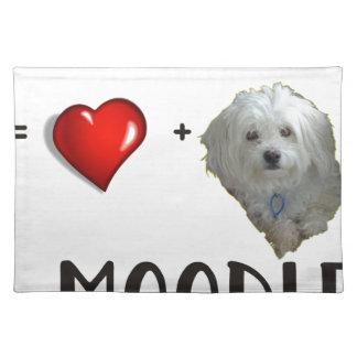 Maltese + Poodle = Moodle Placemat