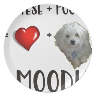 Maltese + Poodle = Moodle Plate