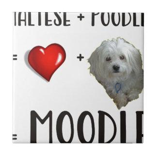 Maltese + Poodle = Moodle Tile