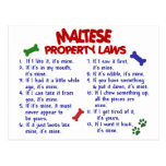 MALTESE Property Laws 2 Post Cards