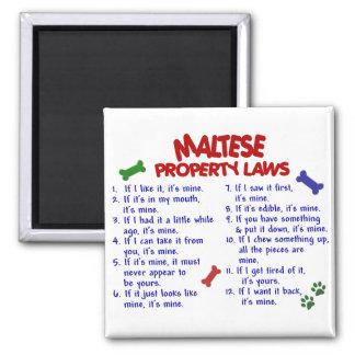 MALTESE Property Laws 2 Square Magnet
