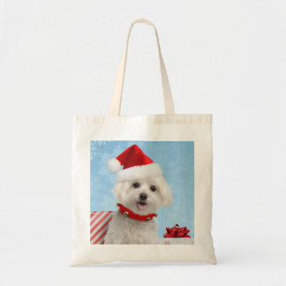 Maltese Puppy Christmas Bag