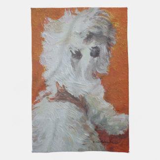 Maltese Puppy Hand Towel