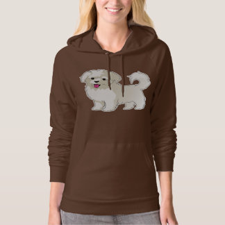 Maltese Puppy Hooded Pullover