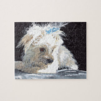 Maltese Puppy Jigsaw Puzzle