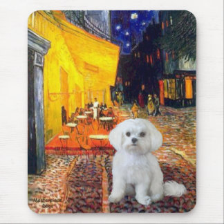 Maltese R - Terrace Cafe Mouse Pads