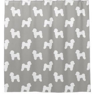 Maltese Silhouettes Pattern Shower Curtain