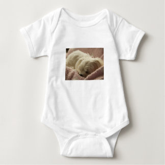 maltese sleeping baby bodysuit