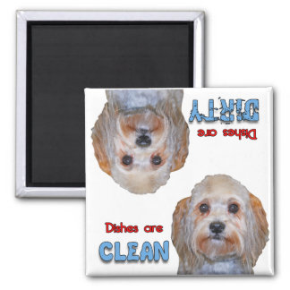 Maltese Yorkie Mix Dog Lovers Dishwasher Magnet