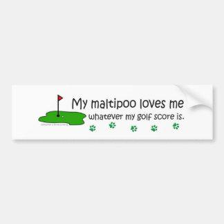 Maltipoo Bumper Sticker