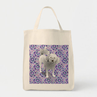 Maltipoo Cute Little White Dog Tote Bag