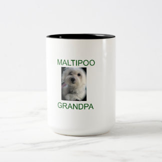 Maltipoo Grandpa Two-Tone Coffee Mug