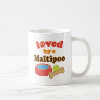 maltipoo loved by coffee mug