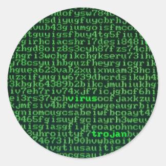 Malware Round Sticker