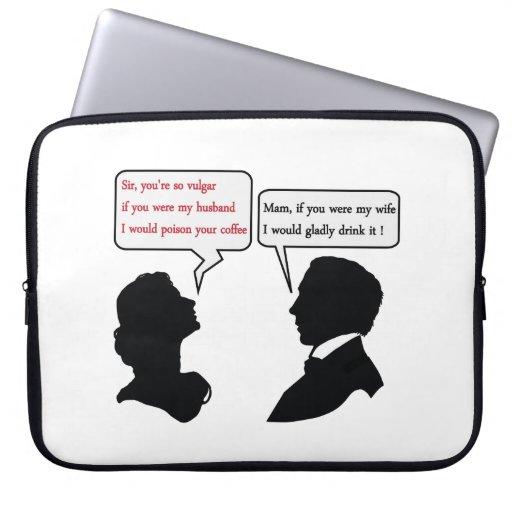 Mam and Sir joke Laptop Sleeves