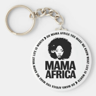 Mama Africa Key Basic Round Button Key Ring