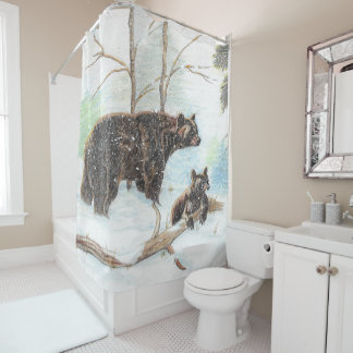 Mama and Baby Bear Shower Curtain