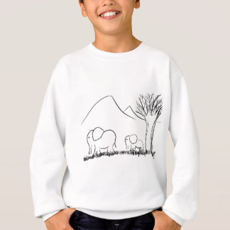 Mama and Baby Elephants Sweatshirt