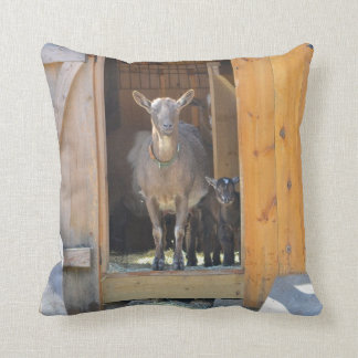 Mama and Baby Goat Pillow