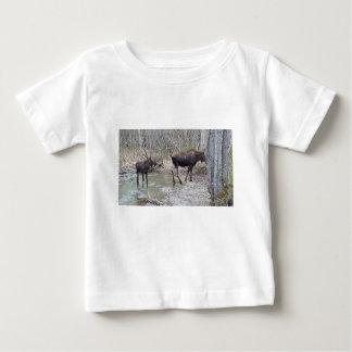 Mama and Baby Moose Baby T-Shirt