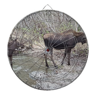 Mama and Baby Moose Dartboard