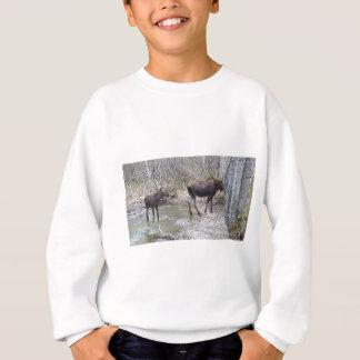Mama and Baby Moose Sweatshirt