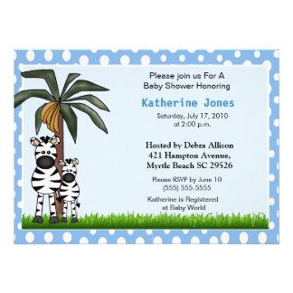 Mama and Baby Zebra Baby Shower Invitation