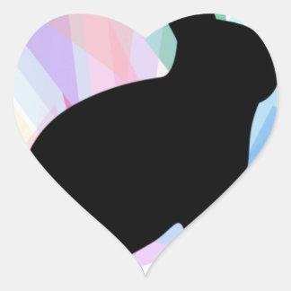 Mama and Papa Swag Heart Sticker