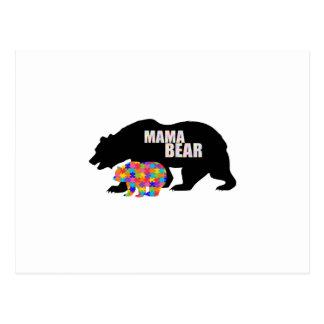Mama Bear Autism Awareness Suppor Postcard