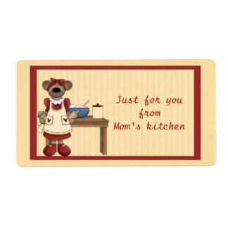 Mama Bear Baking Shipping Label