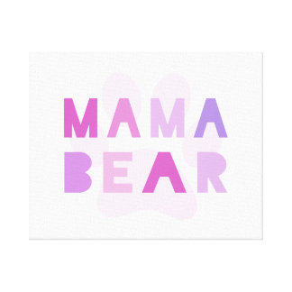 Mama bear stretched canvas print