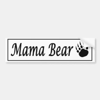 Mama Bear car sticker decal with bear claw Bumper Sticker
