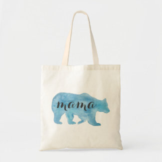 Mama Bear Watercolor Tote Bag