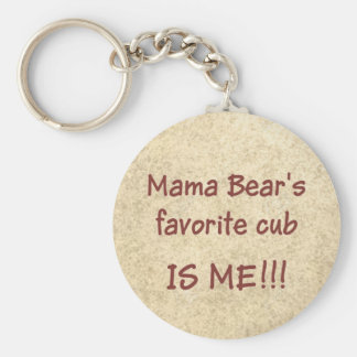 Mama Bear's favorite cub Basic Round Button Key Ring
