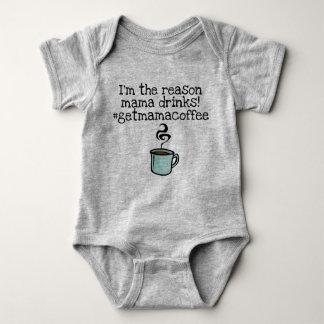mama drinks coffee baby bodysuit