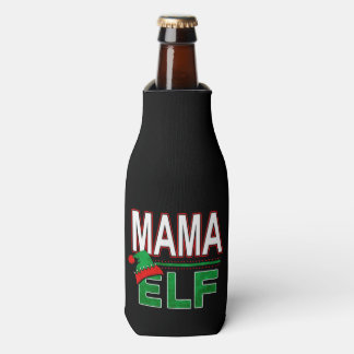 Mama Elf | Team Elf Christmas Holiday Family | Bottle Cooler