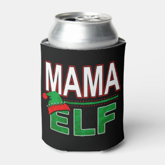 Mama Elf | Team Elf Christmas Holiday Family | Can Cooler