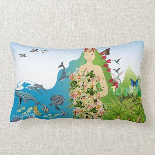 Mama Gaia oblong reversible pillow