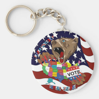 Mama-Grizzly-Keychain-1 Basic Round Button Key Ring
