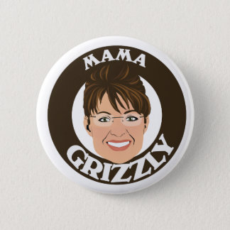 Mama Grizzly Sarah Palin 6 Cm Round Badge