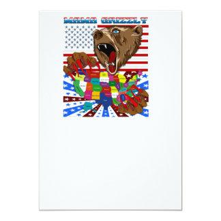 Mama-Grizzly-Set-2 13 Cm X 18 Cm Invitation Card