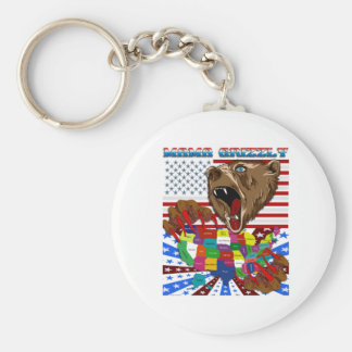 Mama-Grizzly-Set-2 Basic Round Button Key Ring