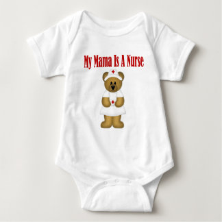 Mama Is A Nurse Bear Baby Bodysuit