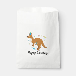 Mama Kangaroo and Baby in Birthday Hats Favour Bag